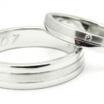 Snubní prstýnky z bílého zlata
