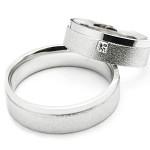Snubní  prsteny bílé zlato a brilianty